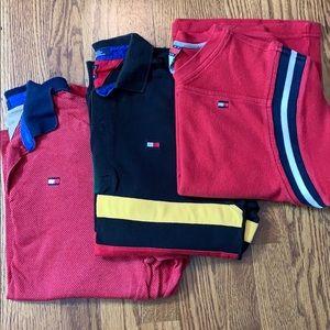 LOT of 3 boys Tommy Hilfiger LS pullovers sz M
